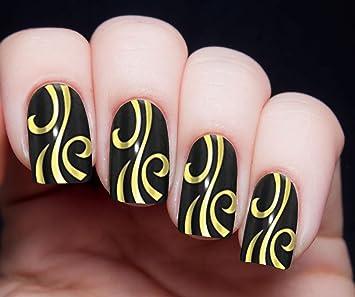 Amazon Metallic Gold Swirls Nail Decals Nail Art Wrap