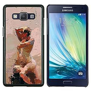 TECHCASE---Cubierta de la caja de protección para la piel dura ** Samsung Galaxy A5 ( A5000 ) 2014 Version ** --Ley Pintura Acuarela Arte