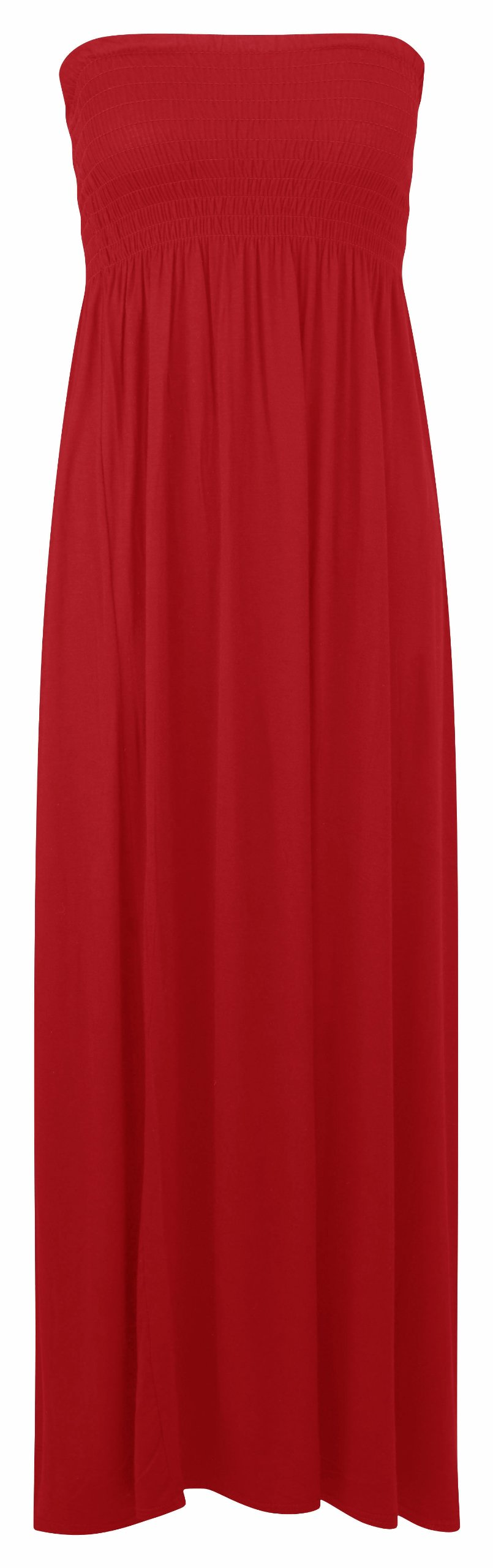 Shirred Bandeau Maxi/ Red 20/22 - 7021- (1.96)