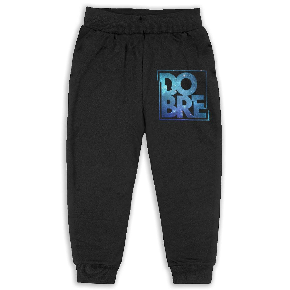 Kids Dobre Brothers Music Band Boys Girls Sweatpants Sport Trousers Back Pocket Black