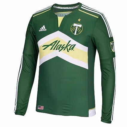 4ca1116f0 PORTLAND TIMBERS Major League Soccer MLS ADIDAS Long Sleeve Authentic  On-field Jersey Men's (