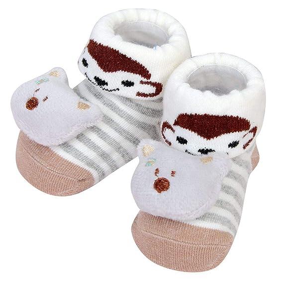 Newborn Baby Boy Girl Cartoon Floor Socks Anti-Slip Kid Step Shoes Socks Slipper