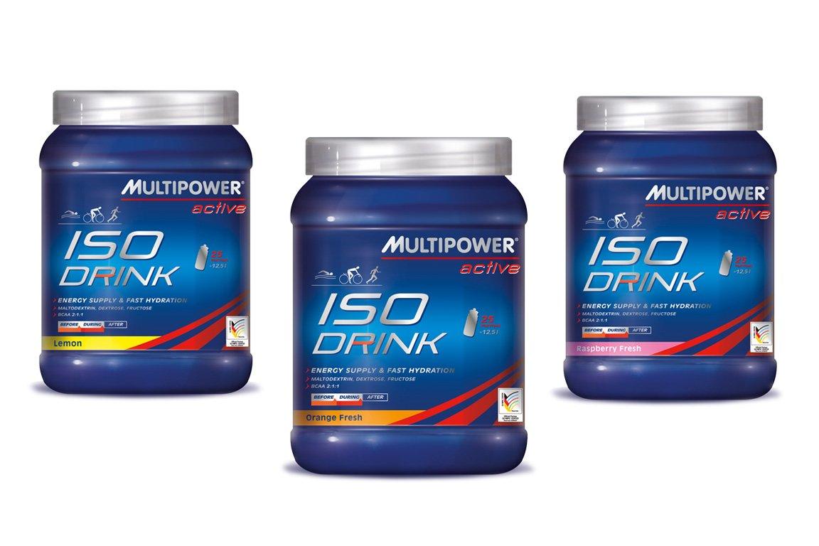 Multipower Getränke-Pulver Iso Drink, Lemon, 875 g Dose: Amazon.de ...
