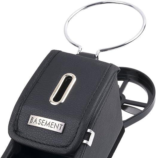 fente lat/érale bo/îte de rangement pour t/él/éphones portables Finoki Auto Catcher Organiseur de voiture en cuir premium poches cartes de cr/édit pi/èces de monnaie