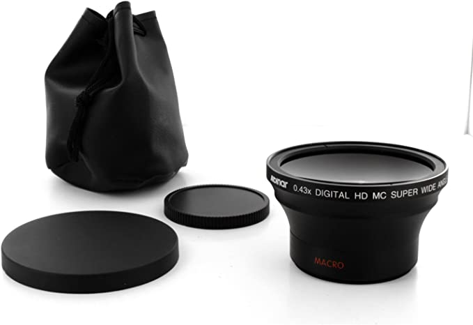 Black Made in Japan Albinar 0.42x 58mm Titanium Super Wide Angle Fisheye Lens with Macro