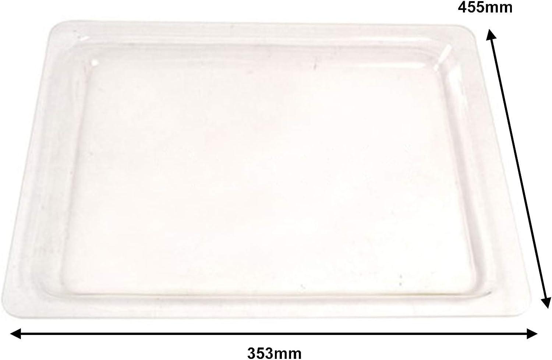 Spares2go HGS100 - Bandeja de cristal para horno y microondas ...