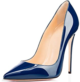 Chris-T Damen Mode High Heel Stiletto Spitz Formale Kleid Party Pumps Schwarz 39 EU 0K51MrVBMD