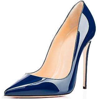 Chris-T Damen Mode High Heel Stiletto Spitz Formale Kleid Party Pumps Schwarz 39 EU