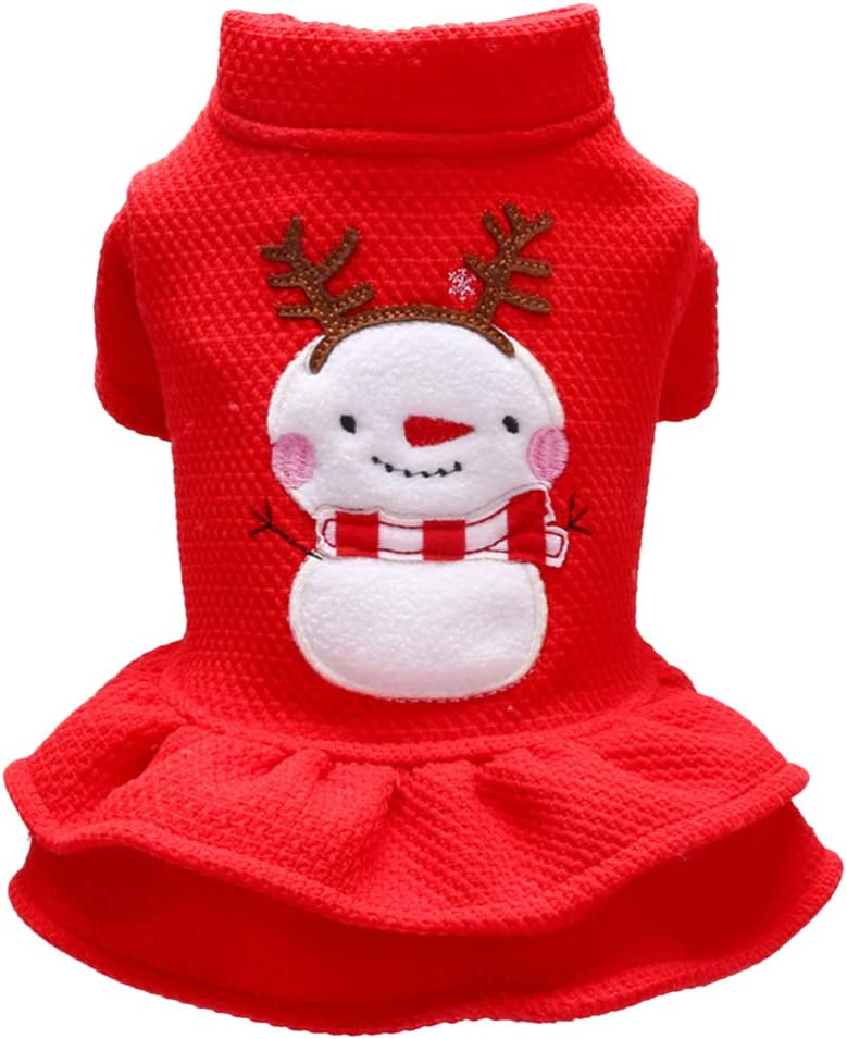 Balacoo Gato Capa de Perro Navidad Trajes Capa de Santa Claus Traje de Falda de Navidad Perro se Visten tama/ño de XS Traje Ropa