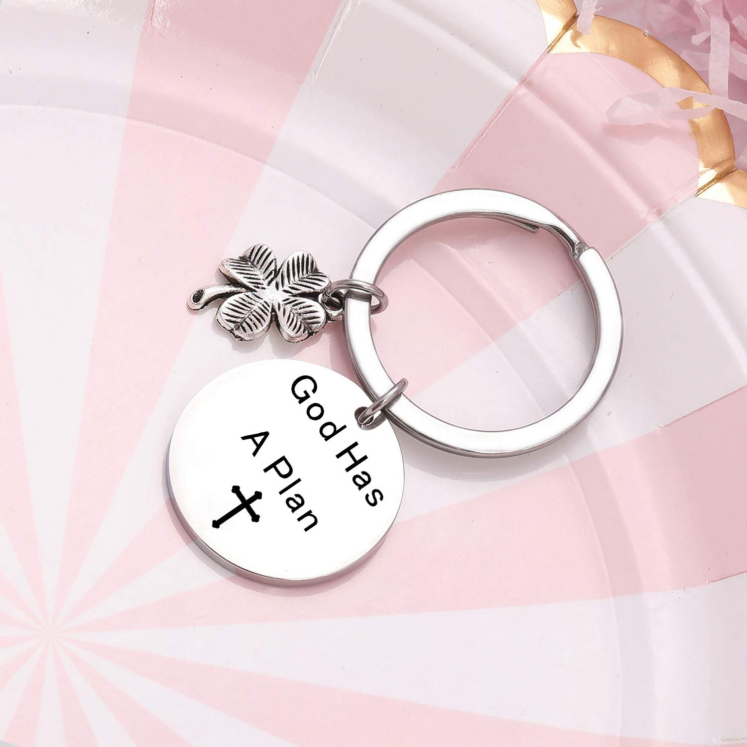 TzrNhm Blossom God Has a Plan Bracelet Jewelry Inspirational Daily Reminder Bangle for Women Men