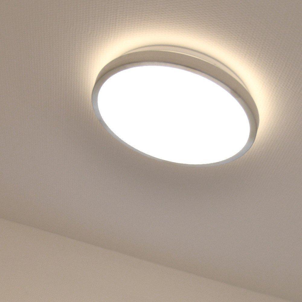 LICHT-TREND LED-Deckenlampe / Ø 30cm / 9,6W / Alu-matt: Amazon.de ...