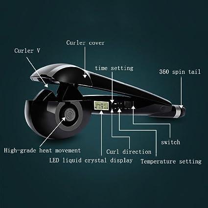 LJXX Rizador De Pelo Perezoso LCD Automático De Iones Negativos Cuidado Del Cabello Eléctrico Nano Ceramica