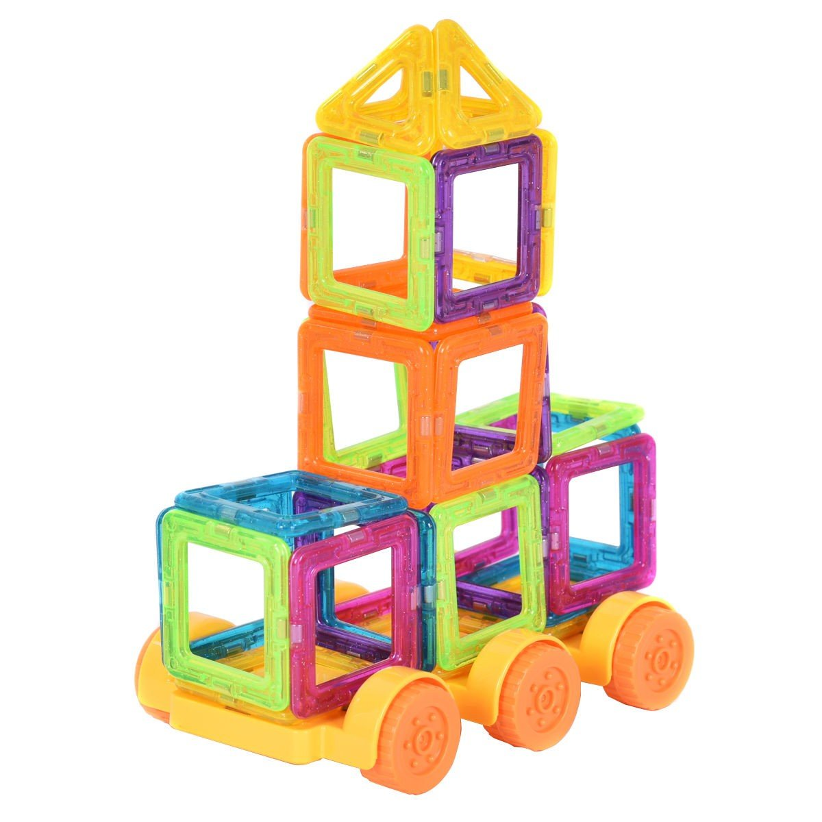 EnjoyShop 158 pcs Magical Magnetic Construction Building Blocks Smooth Interface and Good Abrasion Resistance for Durability by EnjoyShop (Image #3)