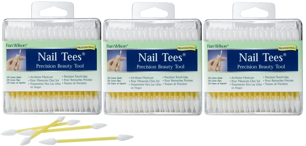 Fran Wilson Nail Tees Precision Makeup Applicators Makeup Brushes 120 Count (pk of 3)