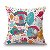 beautifulseason seaanimal cushion covers 18 x 18 inches / 45 by 45 cm for her,teens girls,birthday,kids room,dinning room with twin sides