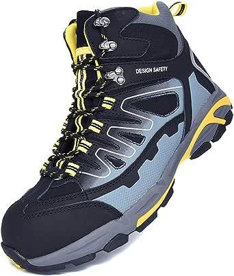 WMZQW Zapatillas de Seguridad Trabajo para Hombre Transpirable Ligeras con Puntera de Acero Zapatos de Seguridad, Calzado de Industrial y Deportiva: Amazon.es: Ropa y accesorios