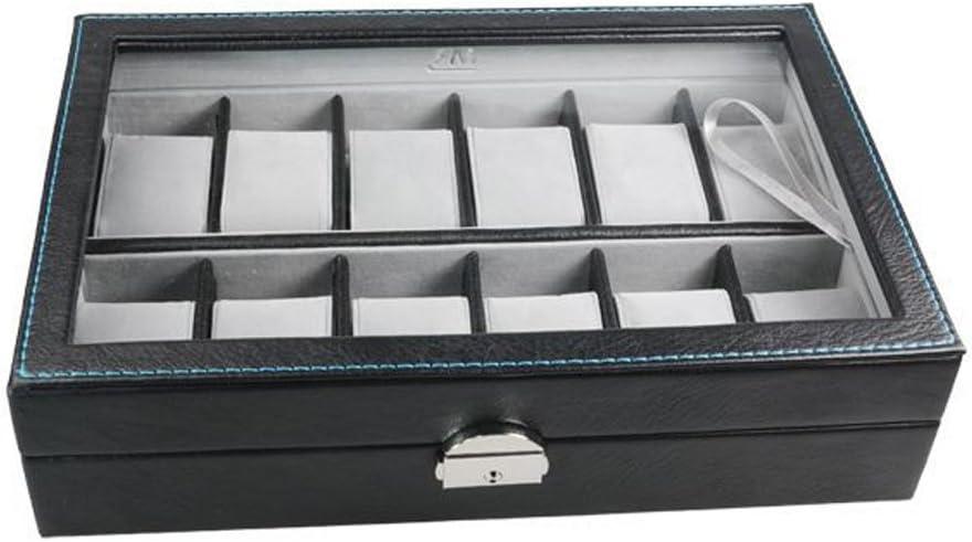 MR Caja - Vitrina Guarda Relojes para 12 Gama Polipiel: Amazon.es ...