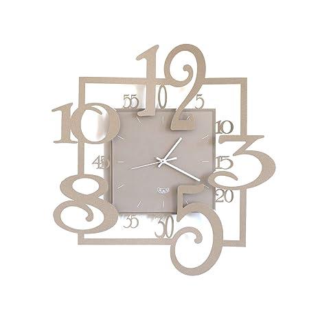 Arti E Mestieri Orologio Da Parete Particolare Amos Metallo Beige