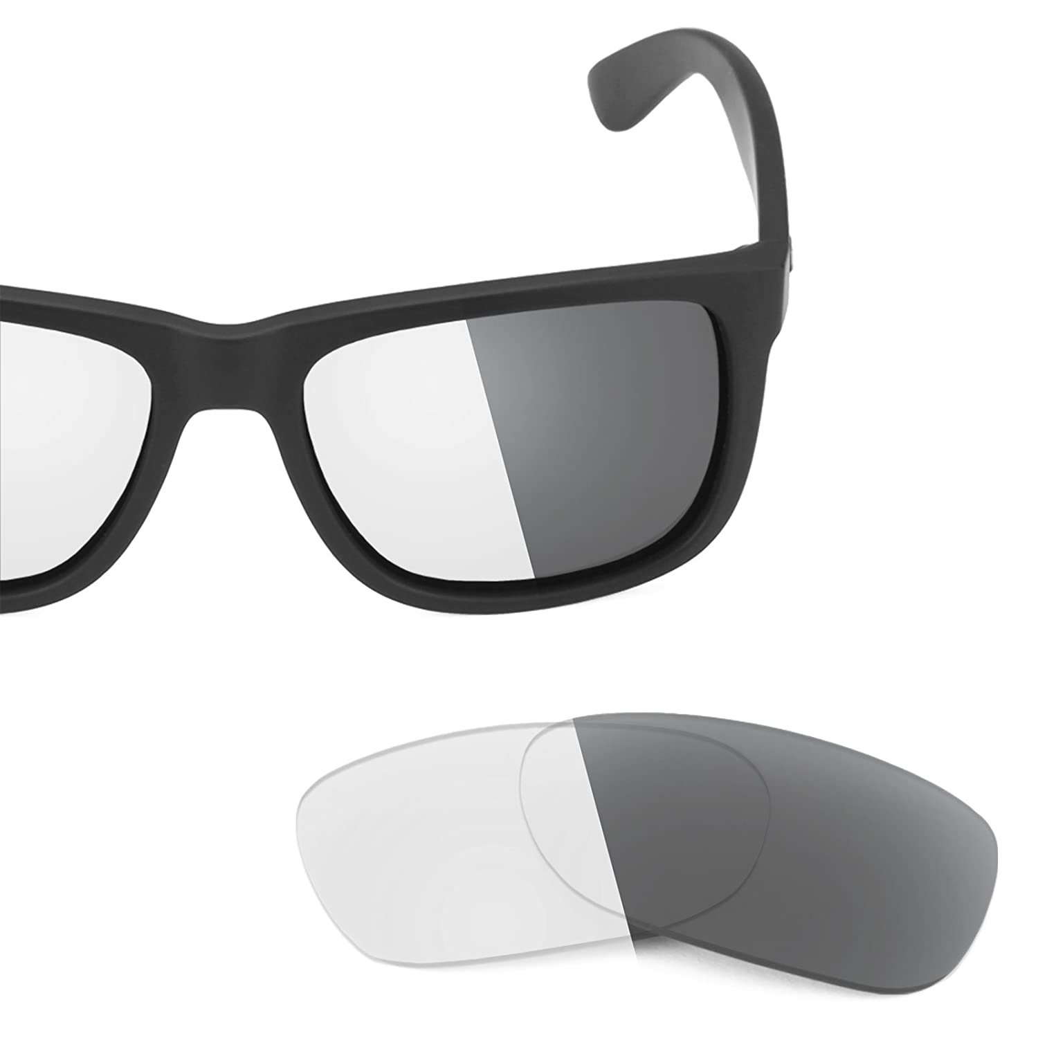 7f4eade0a Revant Replacement Lenses for Ray-Ban Justin RB4165 54mm Elite Adapt Grey  Photochromic: Amazon.co.uk: Clothing