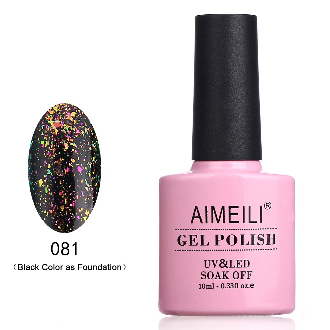 AIMEILI Soak Off UV LED Galaxy Paranoid Collection Clear Glitter Gel Nail Polish - Venus's Hug (081) 10ml