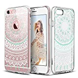 "ESR iPhone 6 Plus Case,iPhone 6s Plus Case, Totem Henna Mandala Floral Pattern Design with Soft TPU Bumper+Hard PC Back Cover for 5.5"" iPhone 6 Plus/iPhone 6s Plus_ Mint Mandala"