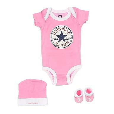 fcbd408052f6 Converse Infant Girls 3 piece set Pink  Amazon.co.uk  Shoes   Bags
