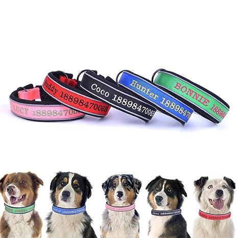 Reflexivo grueso Personalizar collares para perros, collar de ...