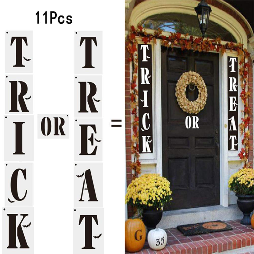 Plantillas decoración de Halloween Calabaza Manualidades Pintura Reutilizable Ventana de visualización