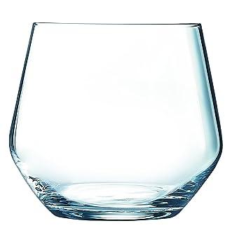 Juego de 6 vasos de cristal de Luminarc, de 360 ml, redondos, VAL SURLOIRE: Amazon.es: Hogar