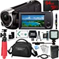 Sony HDR-CX405/B Full HD 60p Camcorder + 64GB Micro SD Memory Card + NP-BX1 Battery Pack + Accessory Bundle from Sony