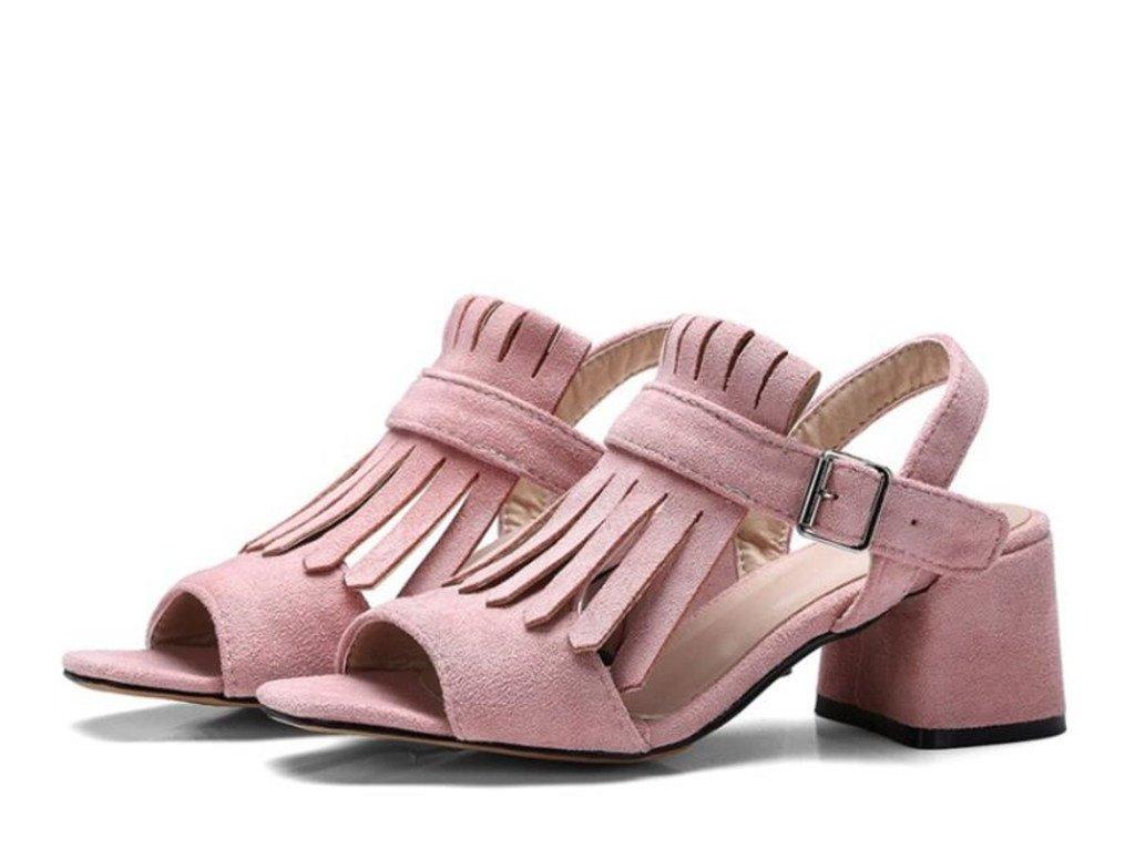 xie Sandales 35 Femme 6cm,/Glands/ givré/Velours Sandales/ Chaussures Romaines, Confortables/antidérapantes, Shopping/Party 6cm, 33-41, Pink, 35 - fb0d40e - boatplans.space