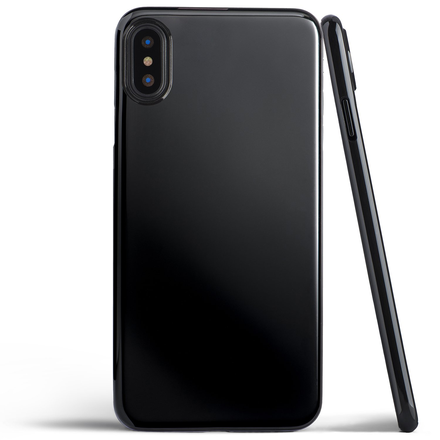 san francisco 6c2a4 5c02e iPhone X Case, Thinnest Cover Premium Ultra Thin Light Slim Minimal  Anti-Scratch Protective - for Apple iPhone X | totallee (Jet Black)