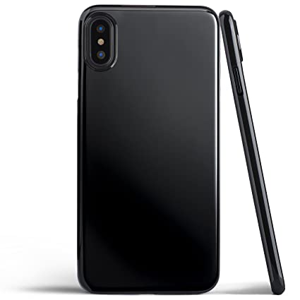 the best attitude fd90b 26489 Thin iPhone Xs Case, Thinnest Cover Ultra Slim Minimal - for Apple iPhone  Xs (2018) - totallee (Jet Black)