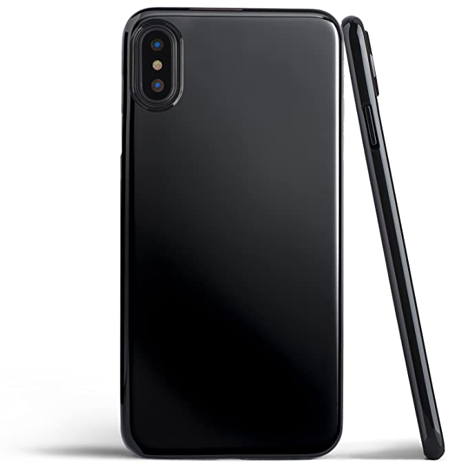 san francisco bac0f e9d26 iPhone X Case, Thinnest Cover Premium Ultra Thin Light Slim Minimal  Anti-Scratch Protective - for Apple iPhone X | totallee (Jet Black)