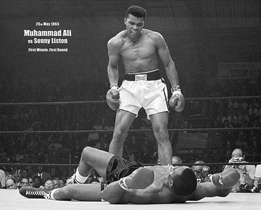 Muhammad Ali vs Sonny Liston Fight Boxing Poster Canvas Art Print Wall Decor