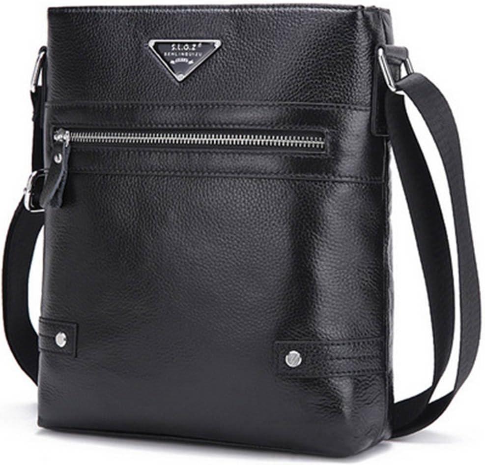 RUNWEI Mens Leather Briefcase Fashion Trend Bag Shoulder Casual Mens Bag