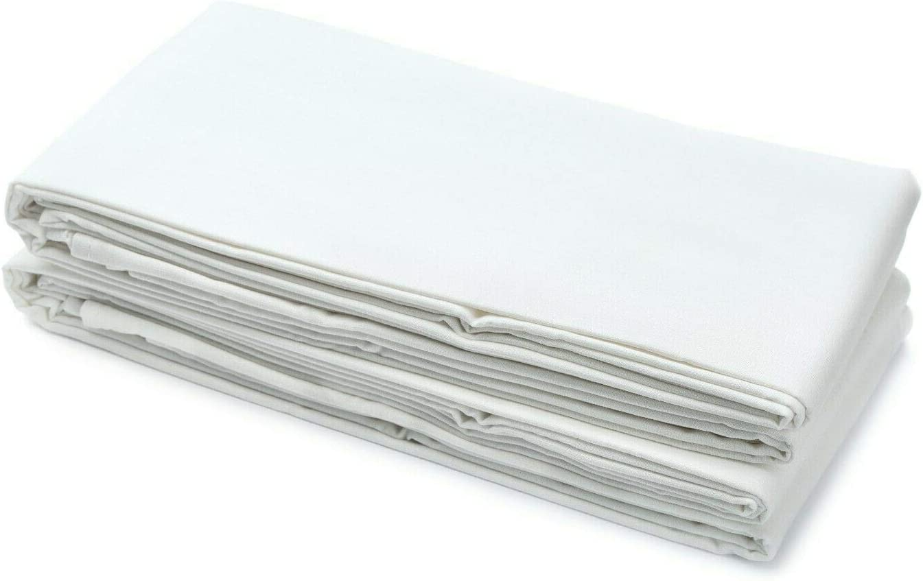 Amazinggirl Sabana encimera Blanca Algodon Poliester 160 x 250 cm - sábanas encimeras Blancas sabanas sin Goma, Telas por Metro Cama Toalla