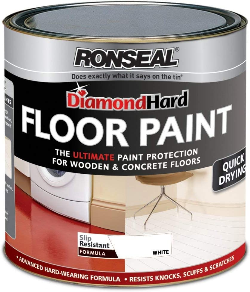 Ronseal Diamond Hard Floor Paint 750ml White Amazon Co Uk