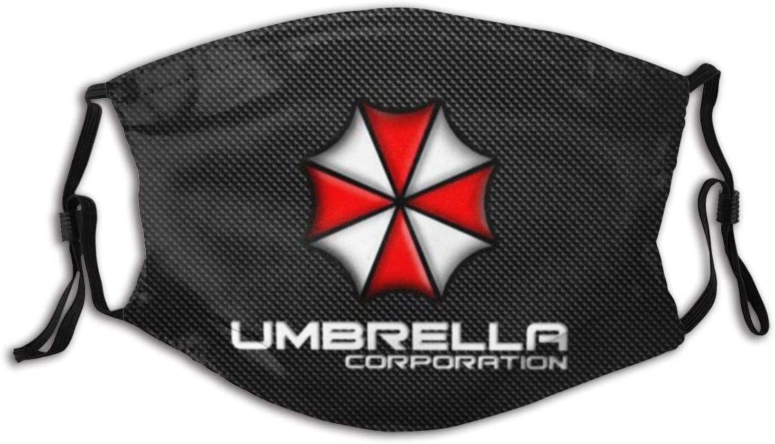 Hey Judey Mundschutz Gesichtsschutz Umbrella Corporation Resident Evil3 with Adjustable Earloop Washable Reusable Mouth Cover Face Cover