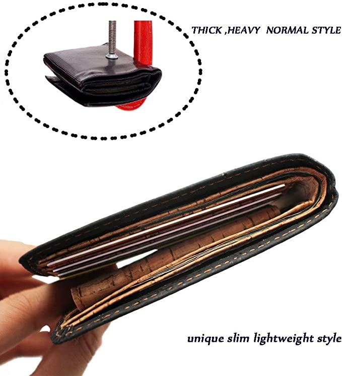 Amazon.com: Boshiho RFID - Monedero de corcho con bloqueo ...