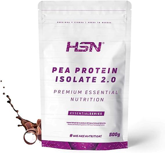 HSN Proteína de Guisante Aislada Vegan Protein   Pea Protein Isolate   Edulcorada con Estevia   Vegano, Sin Lactosa, Sin Gluten, Sin Azúcar, Sin Soja, ...