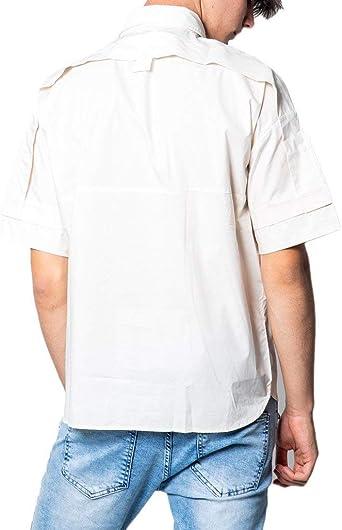 Antony Morato - Camisa para hombre, beige, con bolsillo, DEV07 Color 127, 48: Amazon.es: Ropa y accesorios