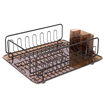 InterDesign Forma Kitchen Dish Drying Rack With Tray U2013 Drainer For Drying  Glasses, Silverware And