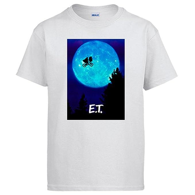 Diver Camisetas Camiseta ET El Extraterrestre póster película  Amazon.es   Ropa y accesorios cd3fa6adb7f3e