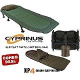 Cyprinus™ Carp Fishing Camping bedchair and 4-5 season sleeping bag COMBO DEAL