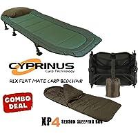 CyprinusTM - Sillón de Camping y Saco de Dormir de 4 a 5 Estaciones