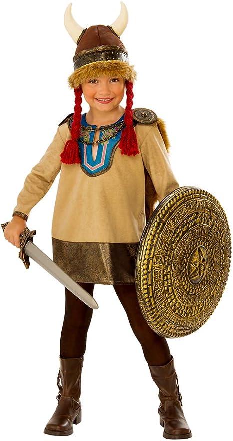 Horror-Shop Pequeño Disfraz Infantil Vikingo con Casco De Trompa M ...