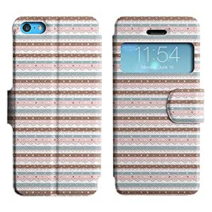 LEOCASE Tiras Horizontales Funda Carcasa Cuero Tapa Case Para Apple iPhone 5C No.1000190