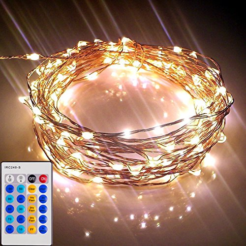 Dorm room lights amazon starry lights with remote control dimmer 20 ft 120 leds various lengths available aloadofball Images