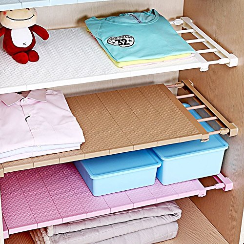 Wardrobe Single (VANCORE Adjustable Storage Rack Separator Wardrobe Cupboard Shelf White (Single Shelf))